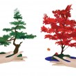 Royalty-Free Stock Vectorielle: Two human hands and trees