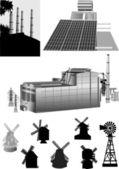Set of energy generators — Stock Vector