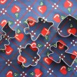 Christmas Cookie Cutters — Stock Photo
