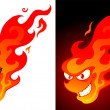 Cartoon fire - Stock Vector