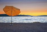 Orange umbrella — Stock Photo