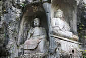 Sculptures of Buddhas — Stock Photo