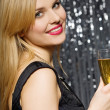 Royalty-Free Stock Photo: Woman with glass of champagne