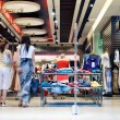 shoppers at shopping center — Stock Photo