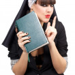 Portrait of attractive young nun — Stock Photo