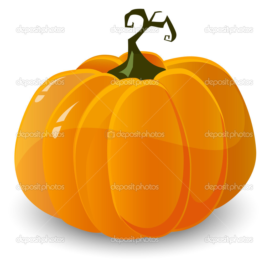 Vector halloween pumpkin isolated on white background — Stock Vector #6811143