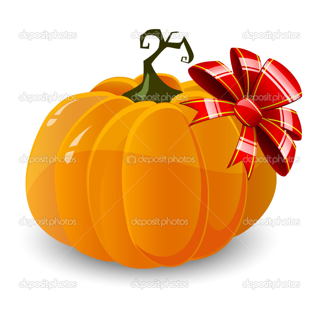 Vector halloween pumpkin isolated on white background — Stock Vector #6873770