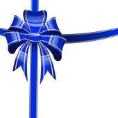 Arco azul sobre un fondo blanco — Vector de stock