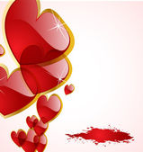 The vector abstract hearts background — Cтоковый вектор