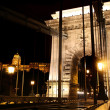 Chain bridge in Budapest, Hungary — Stock Photo #6891850