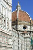 Флоренция, купол базилики Санта-Мария-дель-Фьоре — Стоковое фото