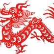 kinesisk drake — Stockvektor