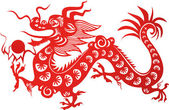 Chinese dragon — Vector de stock