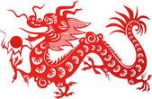 Drago cinese — Vettoriale Stock