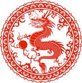 Chinesischer drache — Stockvektor