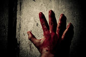 Bloody hand — Stock Photo
