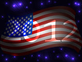 USA 2012 background — Stock Vector