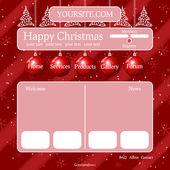 Christmas theme template — Stock Vector