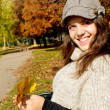 Girl in the park — Stock Photo