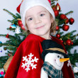 Beauty little girl Santa Claus — Stock Photo #6899595