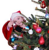 Little girl Santa Claus — Stock Photo