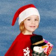 Beauty little girl Santa Claus — Photo