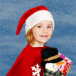 Beauty little girl Santa Claus — Lizenzfreies Foto