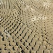 Bulldozer track in sand — Stock Photo #7185343