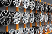 Car aluminum wheel rim — Stock Photo
