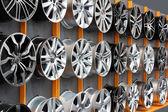 Car aluminum wheel rim — Stock Photo