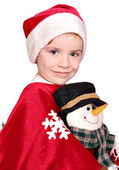 Little girl Santa Claus — Stock Photo