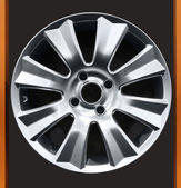 Car aluminum wheel — Stock Photo
