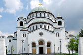 Sveti Sava orthodox church Belgrade Serbia — Foto de Stock
