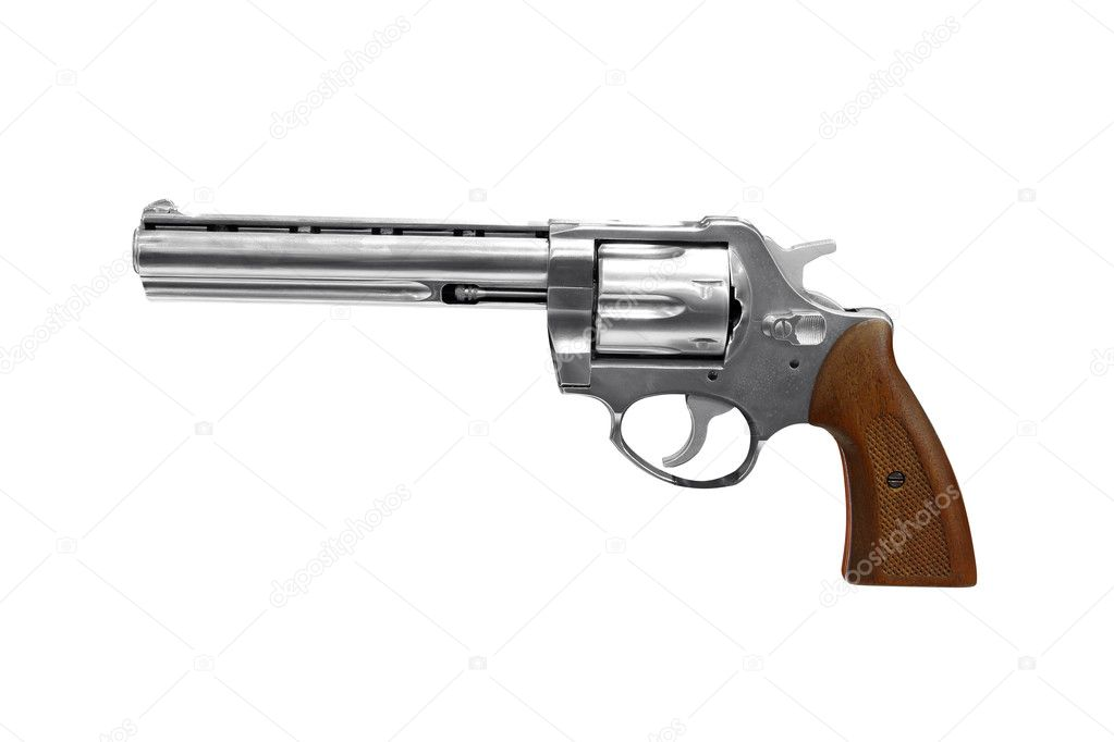 Revolver isolated on white   Stock Photo #7759720