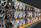 Car aluminum wheels — Stock Photo