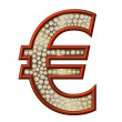 Stock Photo: Diamond Symbol Euro