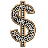 Diamond Symbol Dollar — Stock Photo