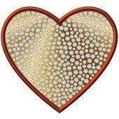 Corazón símbolo de diamante — Foto de Stock