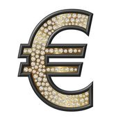 Diamond Symbol Euro — Stock Photo