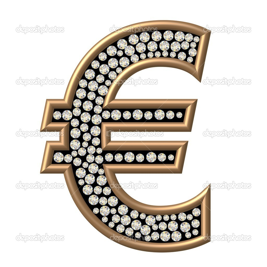Diamond Euro Symbol — Stock Photo #6838813