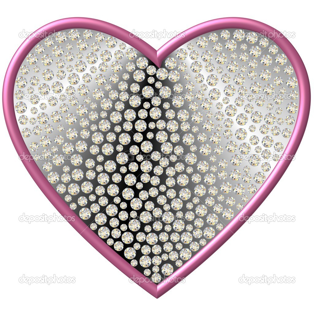 Diamond Heart — Stock Photo #6839244