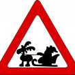 Stock Photo: Santon traffic sign
