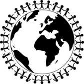 Planet earth insanlarla — Stok fotoğraf