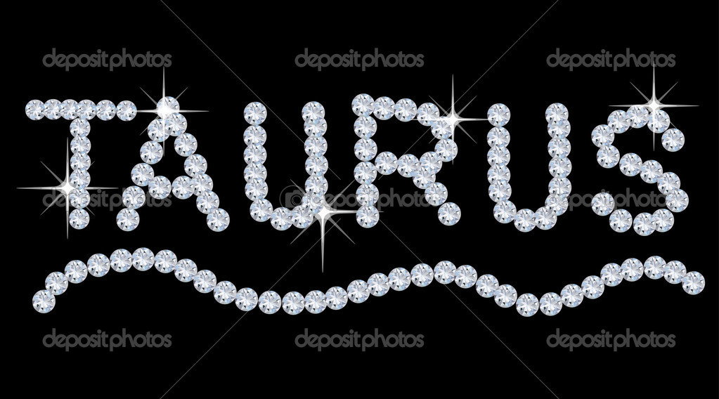Diamond Zodiac Taurus — Stock Photo #6851363