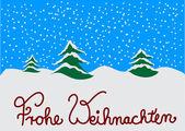Christmas Card german — Stock Photo
