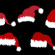 Stockvektor : SantClause Hats