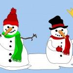 Snowmen — Stock Vector #7464119