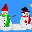 Snowmen — Stock Vector #7464141