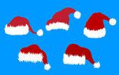 Santa Clause Hats — Stock Vector