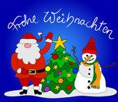 German Christmas Card — Stock Vector